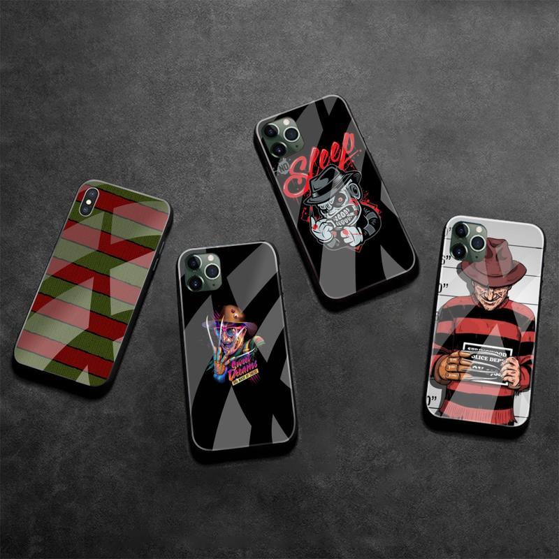 Funda de teléfono de goma suave Freddy Krueger de vidrio templado para iPhone 11 Pro XR XS MAX 8X7 6S 6 Plus SE 2020
