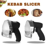 electric barbecue household stainless steel barbecue slicer manual barbecue slicer two blade gyroscope