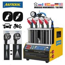 Автомобильный топливный инжектор AUTOOL CT160, тестер для очистки нагрева, ультразвуковой очиститель, Свеча зажигания мотоциклов, очистка 220 В, 110 В