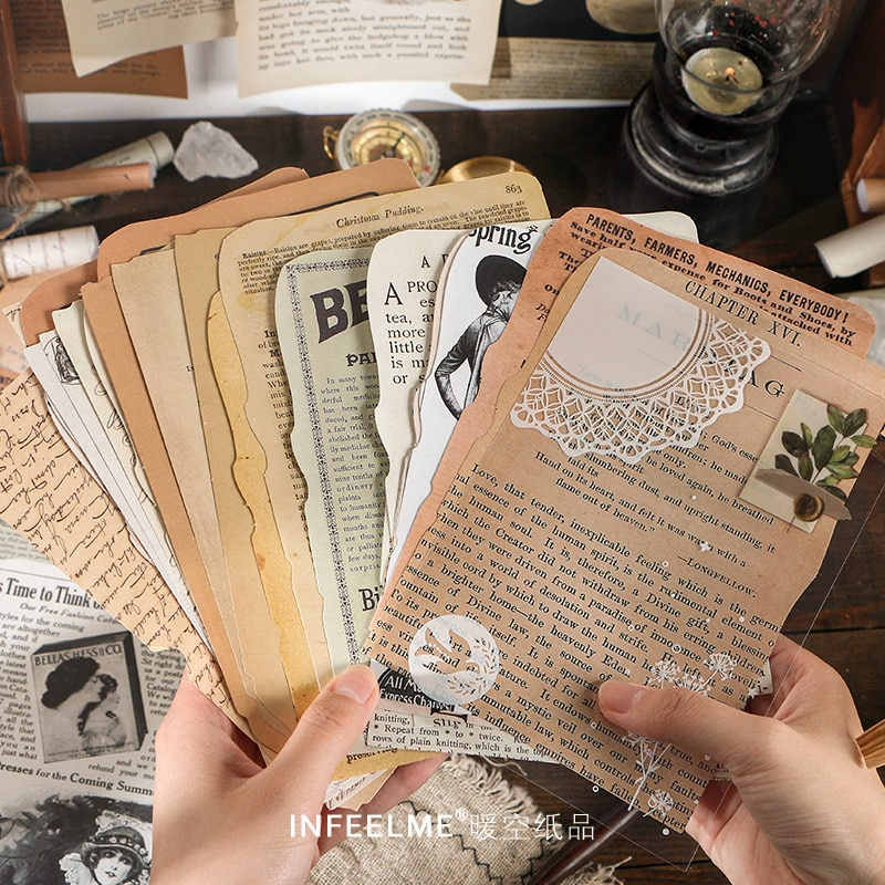 AliExpress - 25 Sheets Journal Decorative Stickers Book Scrapbooking Stick Label Diary Stationery Album Vintage Study Stickers