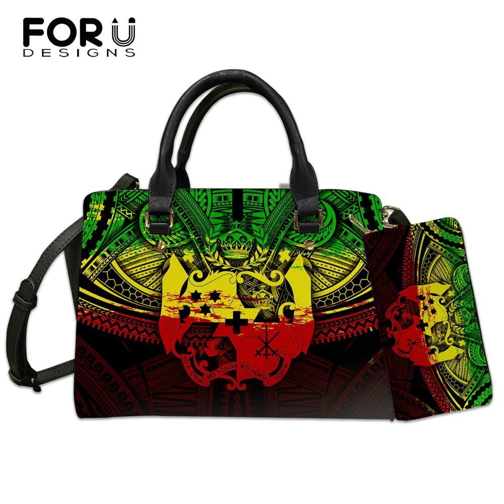 mengxilu brand 3 pcs set crocodile bag women pu leather shoulder bags female scarf top handle bag casual tote purse card bags FORUDESIGNS Bags for Women Polynesian Samoa Tribe Pattern Brand Design Female Luxury Pu Leather Handbag Shoulder Bag Casual Tote