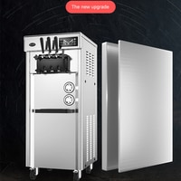 New Upgrade Ice Cream Machine Commercial Soft Ice Cream Automatic Stainless Steel Cone Machine Ice Cream Container