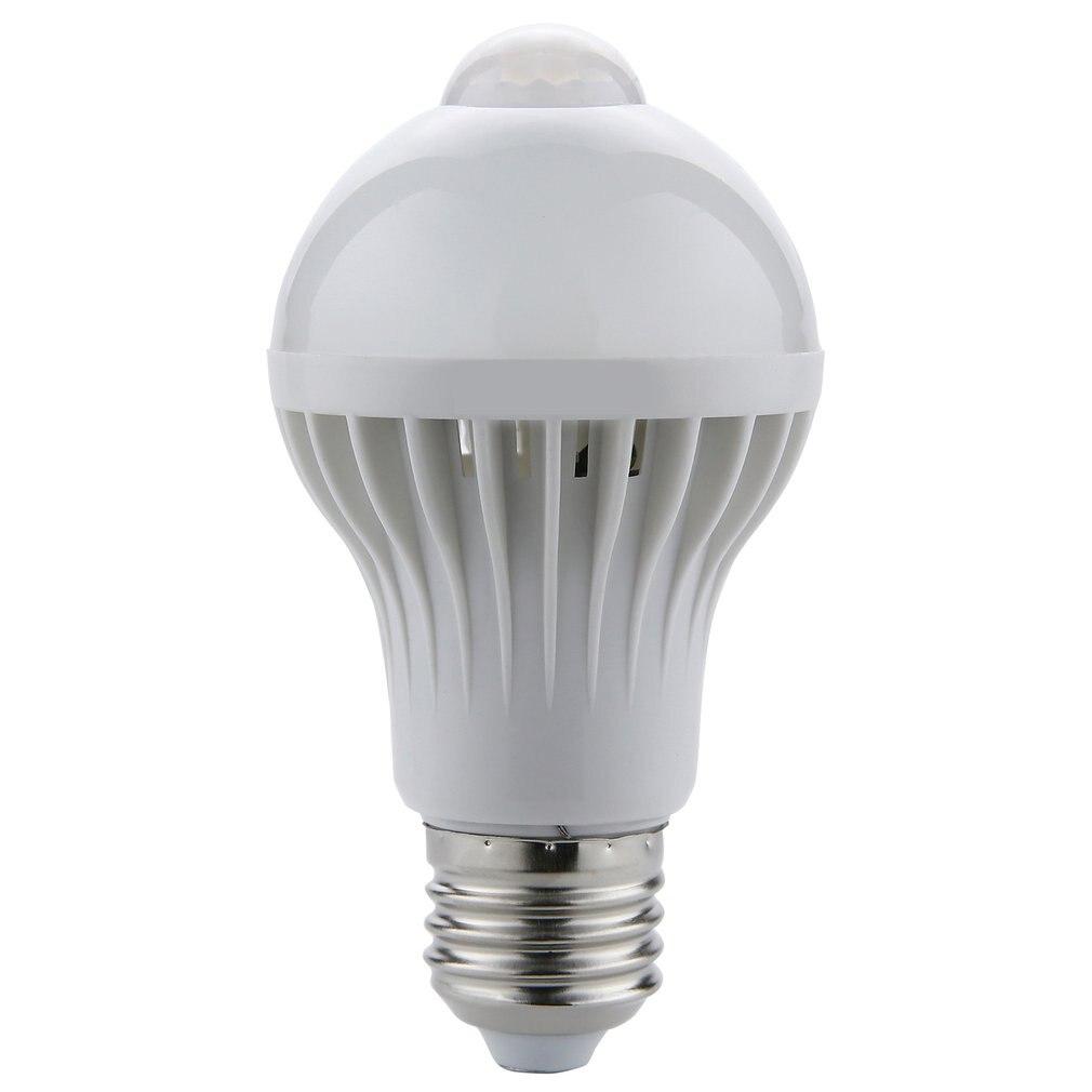Lámpara con Sensor de movimiento, luz LED PIR, luz nocturna, Sensor de detección de movimiento, luces, Sensor de luz de sonido para el hogar, lámparas de 220V E27