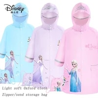 disney children raincoat girls frozen with schoolbags thickened toddler children baby pupils poncho