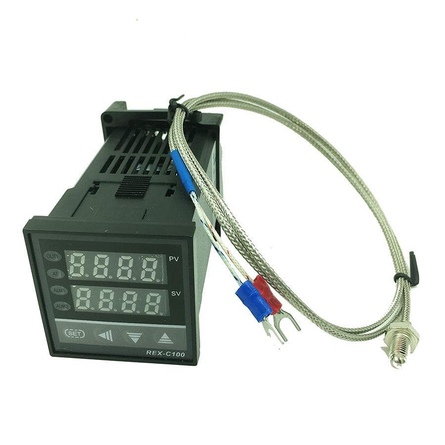 Цифровой ПИД-регулятор температуры, реле термостата/SSR выход 0 to1300C с датчиком термопары типа K