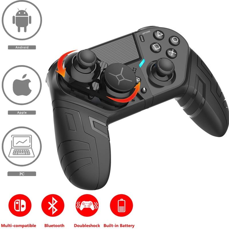 2021 سماعة لاسلكية تعمل بالبلوتوث تحكم ل PS4 Elite/سليم/برو وحدة التحكم غمبد المقود مع للبرمجة زر الخلفي توربو ل PS3
