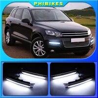led daytime running lights fog lights for volkswagen touareg 2011 2012 2013 2014 2015 drl led car lamp external auto lights