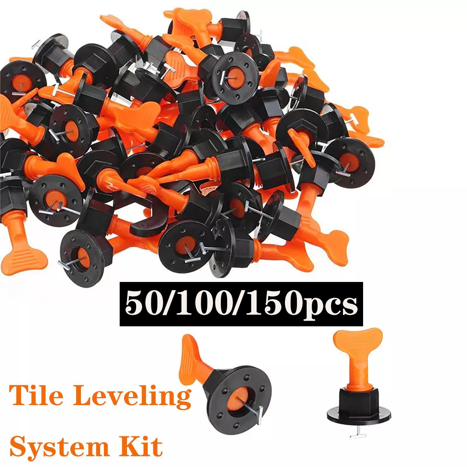 150pcs/set Level Wedges Tile Spacers For Flooring Wall Tile Spacer Carrelage Tile Leveling System Leveler Locator Spacers Plier