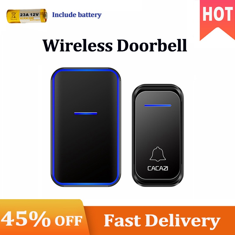 Wireless Doorbell Waterproof 300M Remote Button Receiver US EU UK Plug Smart Home Welcome Calling Do