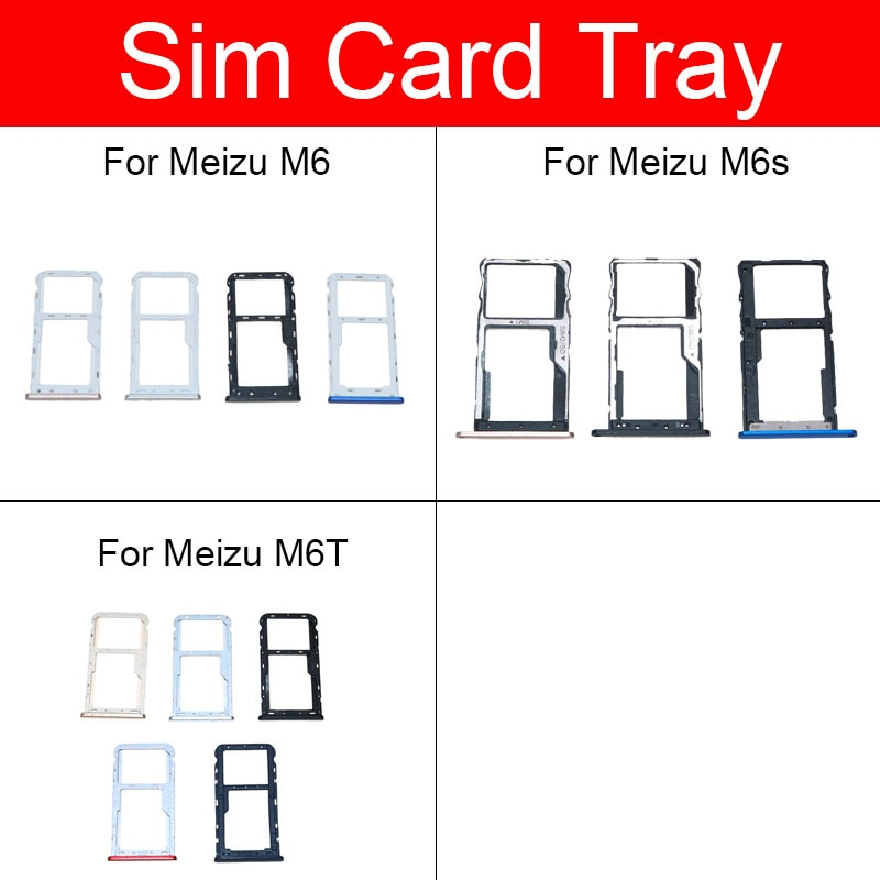 Memory & SIM Card Tray Holder For Meizu Meilan Blue Charm 6 S6 6t M6 M6s M6T M711c M811h M811Q Sim Card Reader Slot Socket