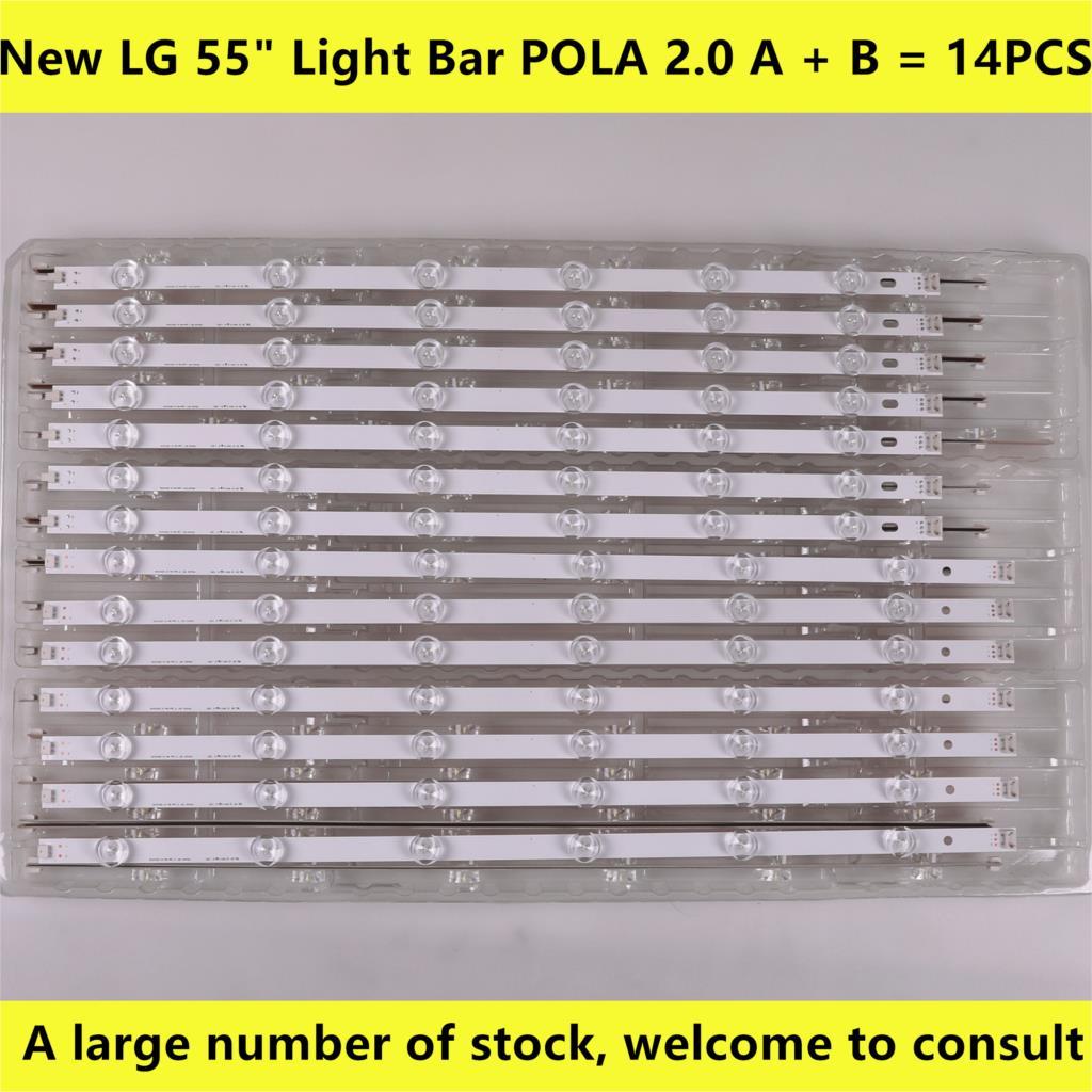 14 шт. светодиодная подсветка для LG 55LN5400 55LN6200 55LN5600 55LN5710 55LN5750 55LA6205 55LA6200 55LA6210 55LA6208 LA62M55T120V12