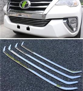 ABS Chrome Car Front Bumper Mesh Grille Grills Strip Trims Cover For Toyota  Fortuner 2016 2017 2018 2019 2020