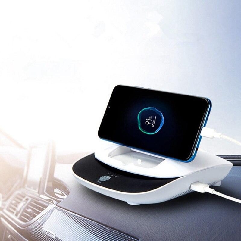 تعمل بالطاقة الشمسية سيارة سلبية أيون معطر الهواء لتنقية حامل هاتف السيارة