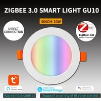 tuya led downlight wifi smart app dimming round spot light 10w rgb color changing warm cool light work with alexa google home