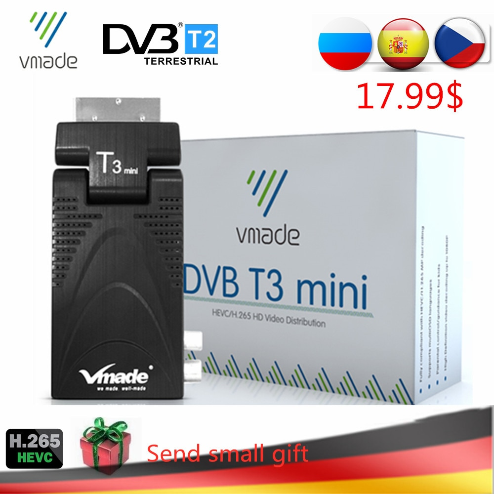DVB-T2 T3 Mini H.265/HEVC HD Digital Terrestrial TV Decoder DVB-T TV Tuner Support Youtube AC3 Audio Fully 1080P MPEG-2/4 TV BOX недорого