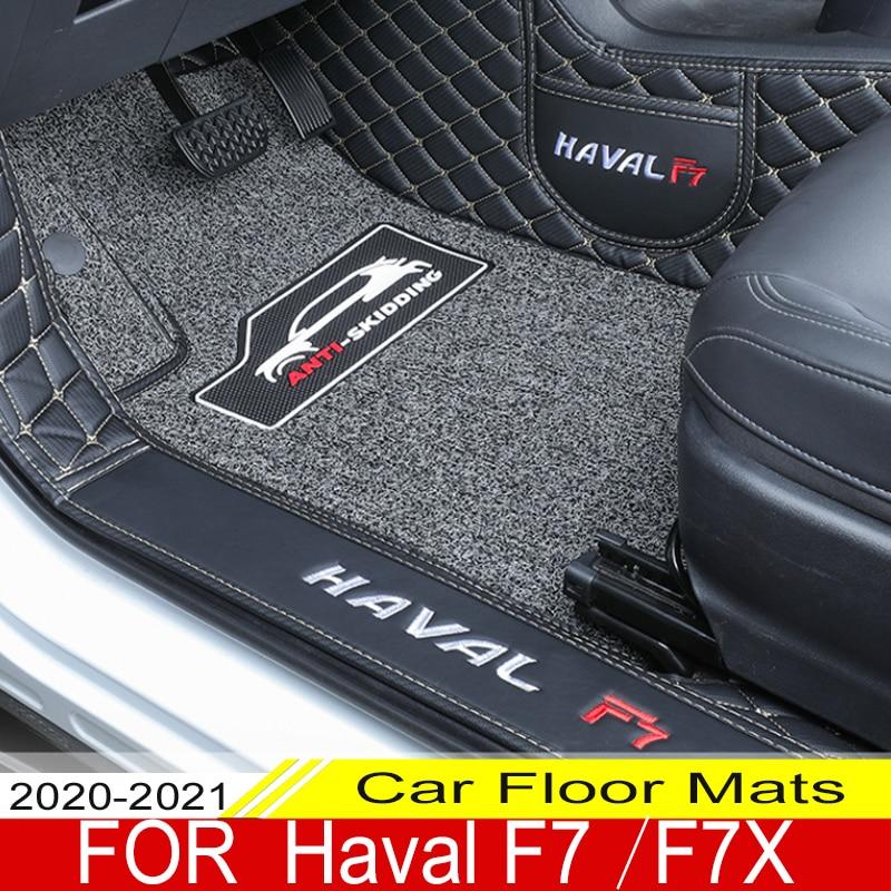 Автомобильные коврики для Haval F7, F7X, 2020, 2021, двухслойные автомобильные коврики для ног, автомобильный коврик