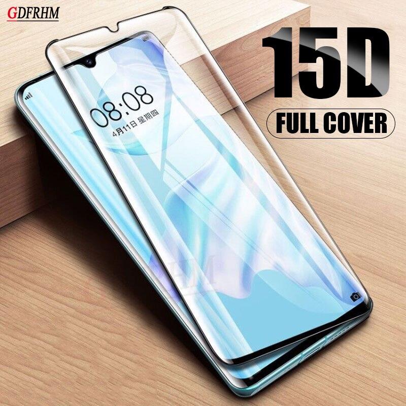 15D vidrio templado para Huawei P30 P40 Pro Mate 20 Lite Honor 8X 9X 20 Pro película protectora de vidrio de seguridad