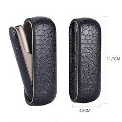 Crocodilo padrão caso lateral para iqos 3.0 caso para iqos 3 duo bolsa de couro caso acessórios para iqos 3 capa