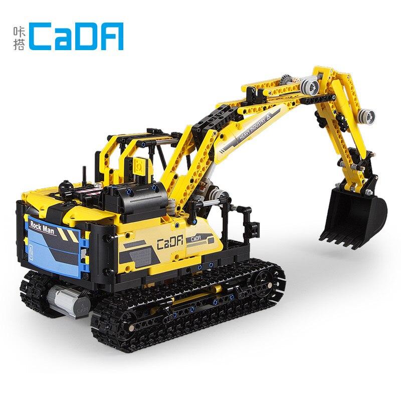 La técnica de bloques de construcción DIY CaDA 930 Uds C51026 rocas Robot excavadora bloques dos formas variadas juguete interactivo para niños