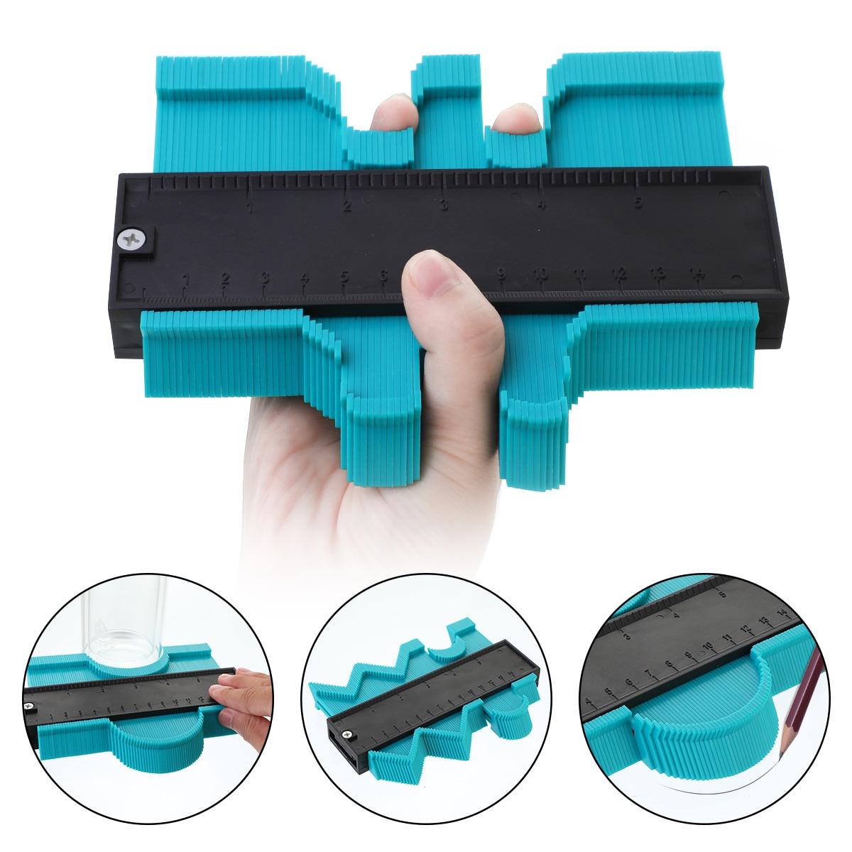 Regla de perfil formador Irregular de plástico, calibrador duplicador, plantilla de escala de contorno, Escala de curvatura, alicate laminado, herramienta de contorno