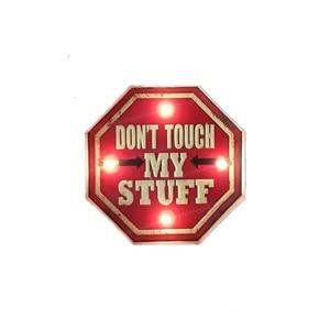 Не трогайте мои вещи светодиодный металлический табличка для кафе бар Ресторан Декор светодиодный вывеска художественный Настенный декор ...