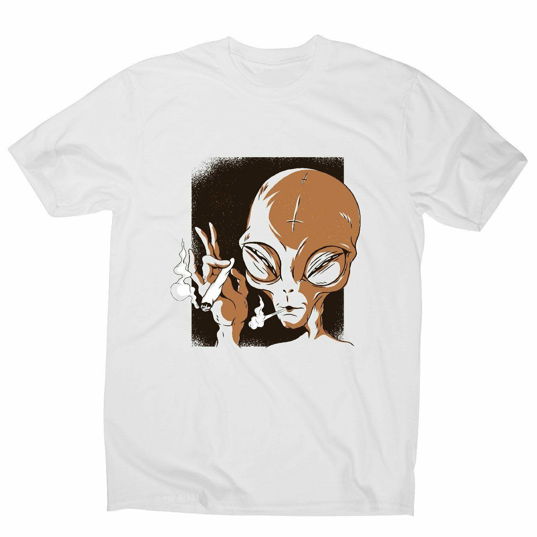 Camiseta con ilustración de Alien Smoking para hombre, camisa