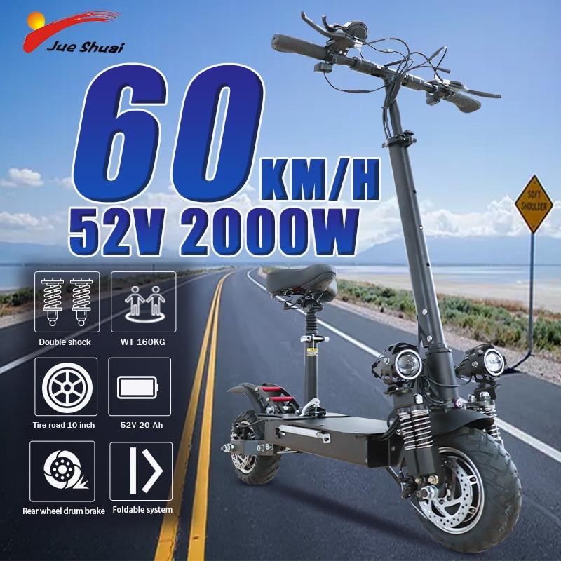 70 km/h 60V 3200W Scooter Eléctrico de 10 pulgadas de doble Motor...