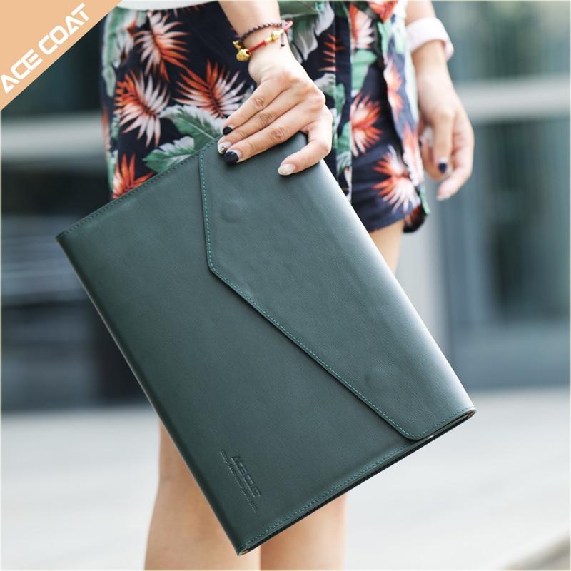 Funda de cuero para portátil para Macbook Air 13,3 Pro 15 Retina 11 12 13 14 15,6 pulgadas Bolsa para nuevo Mac Air, Pro notebook