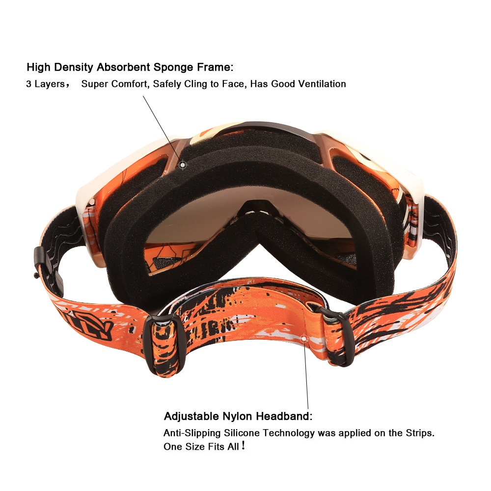 2021 Motorcycle Goggles Outdoor Cycling MX ATV Motocross Helmet Glasses Dirt Bike Gear Surf Ski Off-road Racing Riding Goggles enlarge