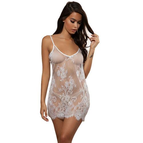 Roupa de noite de renda feminina sexy lingerie babydoll sleepwear vestido de biquíni feminino cobrir vestido de praia só vestido