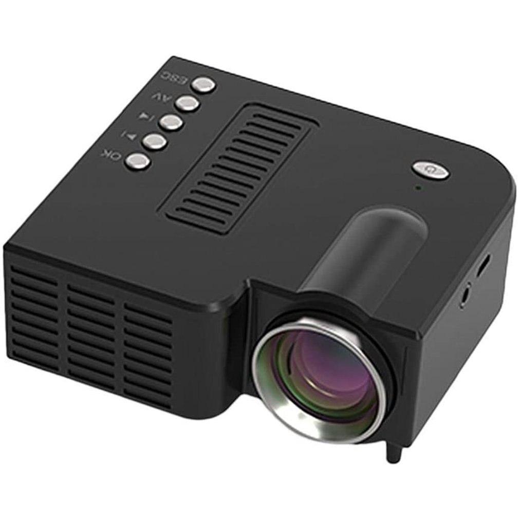 Мини-проектор UC28 1080P для домашнего кинотеатра, киновидео, светодиодный проектор, видеопроектор с поддержкой 4K видео, U-диск, TF-карта STB