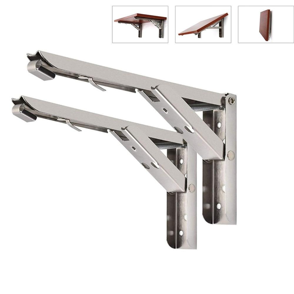 2 шт., складные кронштейны для полки из нержавеющей стали