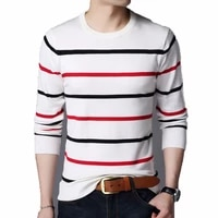 pullover men sweater brand clothing 2020 autumn winter wool slim fit sweater men casual striped pull jumper men