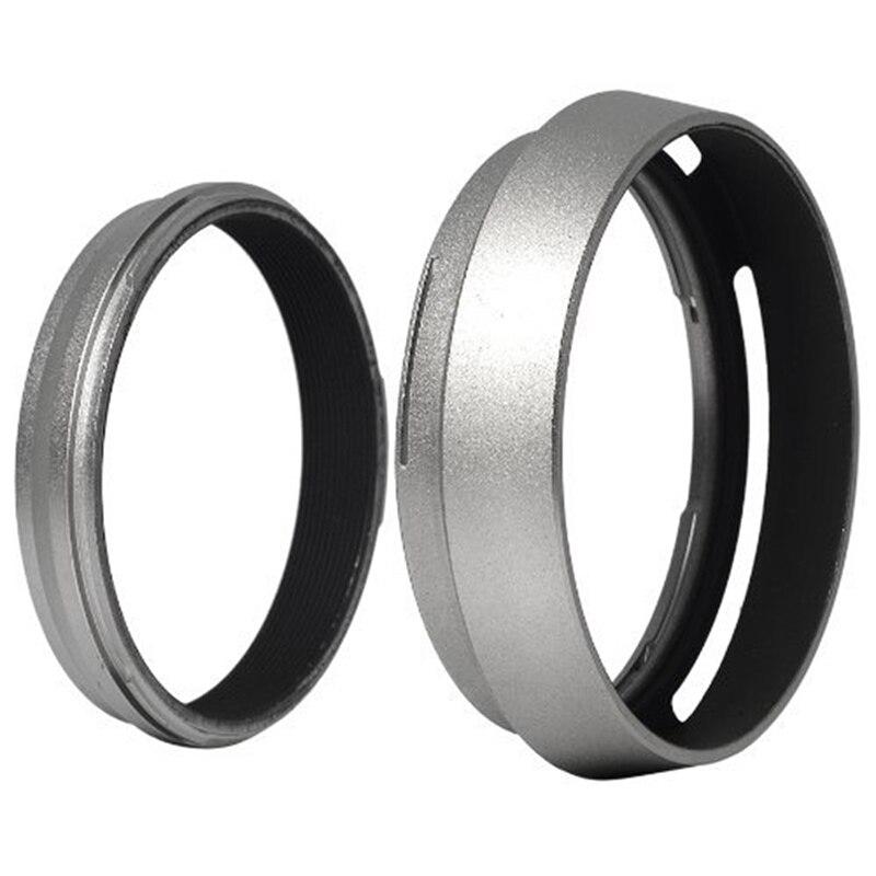 Anillo adaptador de filtro + parasol de aluminio para lentes de metal, para Fujifilm FinePix Fuji X100, reemplaza LH-X100 LF91