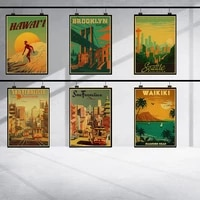 maui hawaii japan anime wall art canvas painting classic retro nordic poster prints wall pictures decoration bedroom wall decor