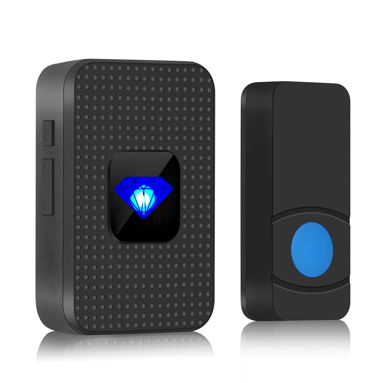 Outdoor Wireless Doorbell Security Calling Button Ofiice Home Door Bell IP55 Waterproof Smart LED Li