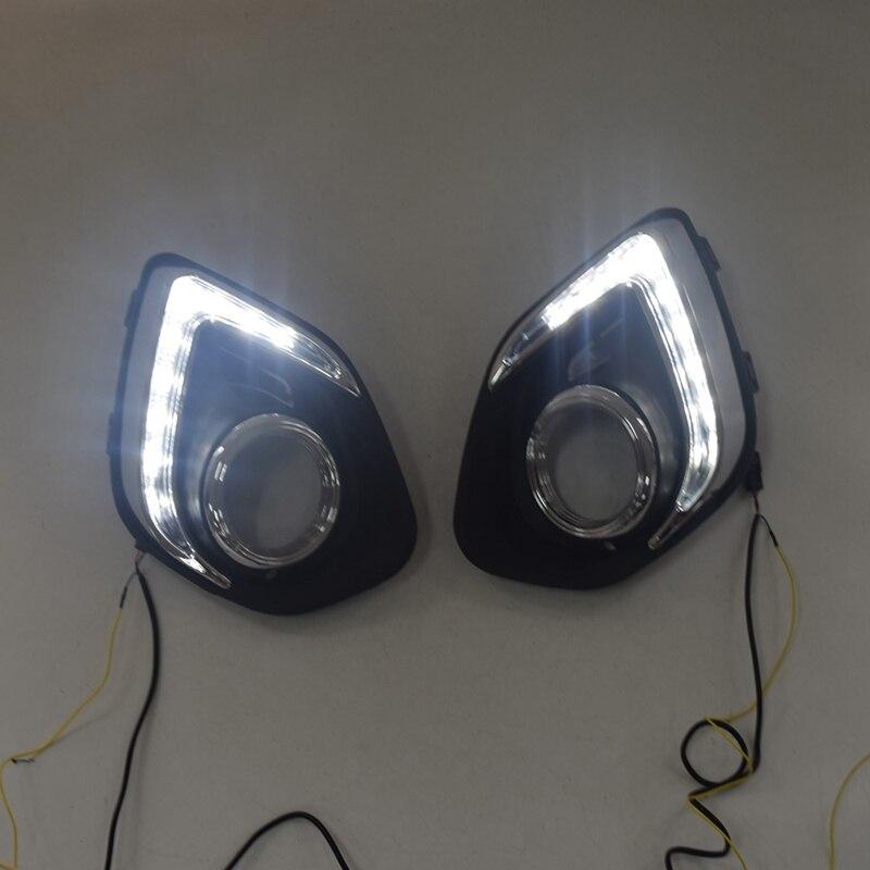 Luz LED DRL de circulación diurna, lámpara antiniebla de 12V, luces para coche para Mitsubishi ASX 2013-2015 (luces blancas)