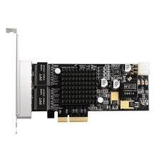 4Port PCI-E 4X Gigabit Network Card POE Lan Interface Card Quad RJ45 Ports 10/100/1000Mbps for Intel350