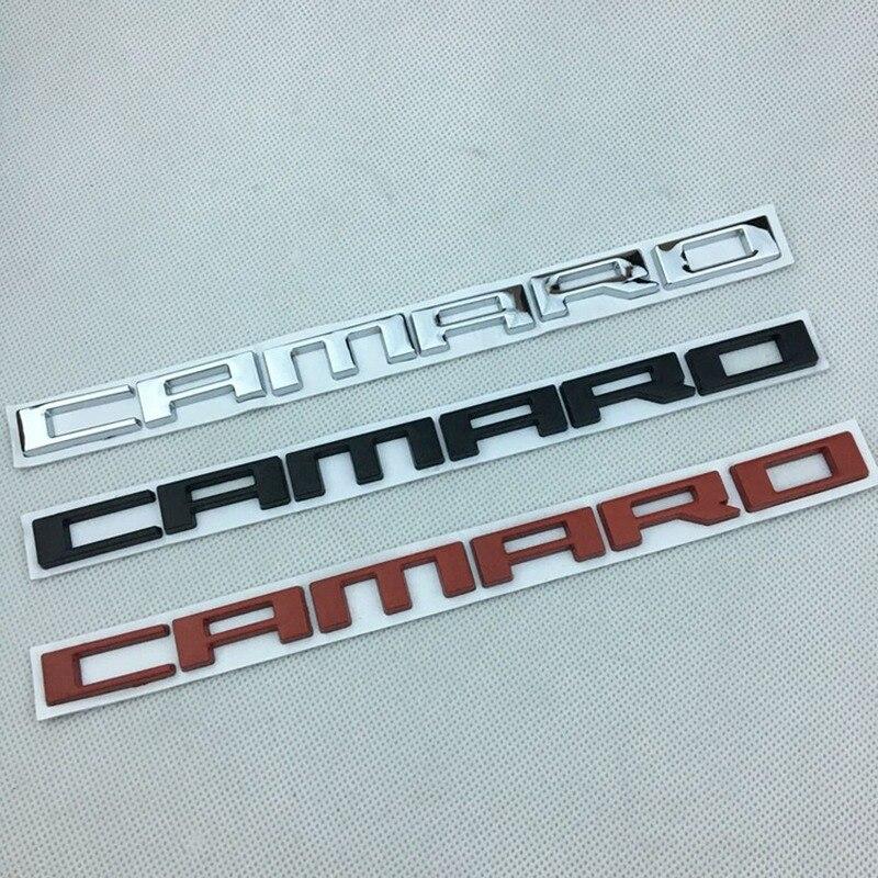 Cromo/negro/rojo coche logotipo lateral CAMARO letras insignia cuerpo adhesivo para maletero para Camaro RS SS ZL1 Z28