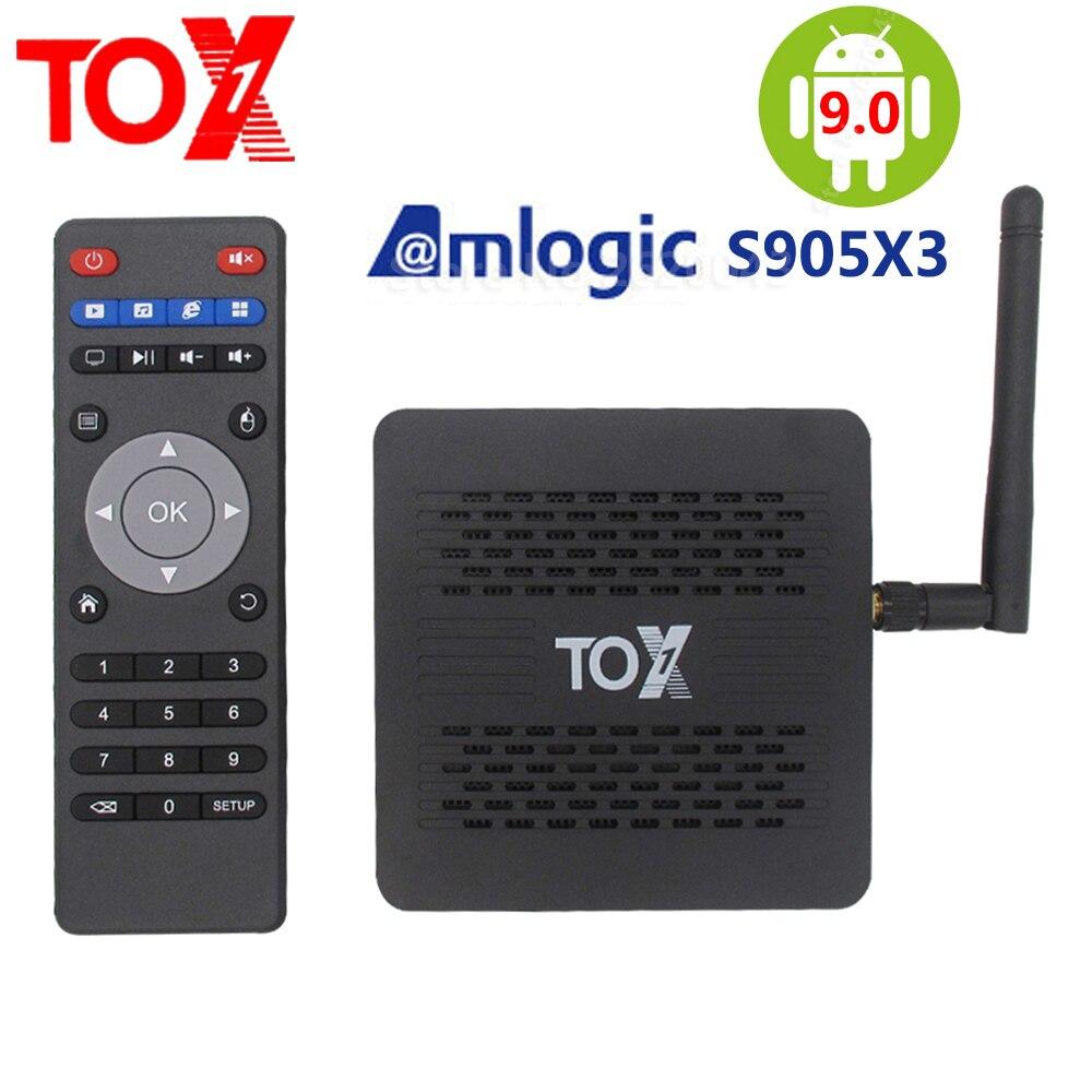 2020 nova amlogic s905x3 smart android 9.0 tox1 caixa de tv 4gb 32 2.4g 5g wifi bluetooth 1000m 4k hd definir caixa superior youtube