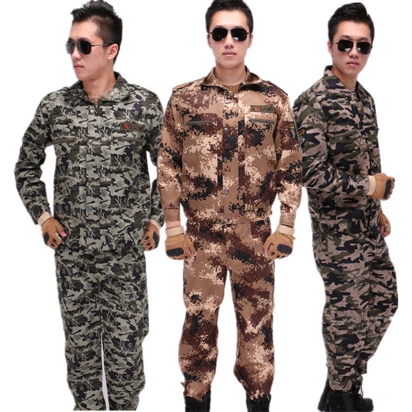 2020 conjunto de ropa de ejército de fuerzas especiales para hombres, uniforme militar de camuflaje, abrigo táctico de manga larga + Pantalones, trajes resistentes al desgaste