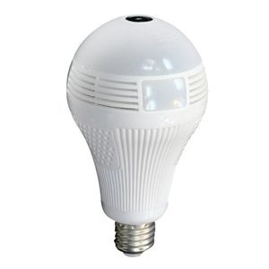 3 Million Pixels WIFI Light Bulb Camera 360 degree Wide Angle Fisheye HD Indoor 32G Camera with Infrared+White Light