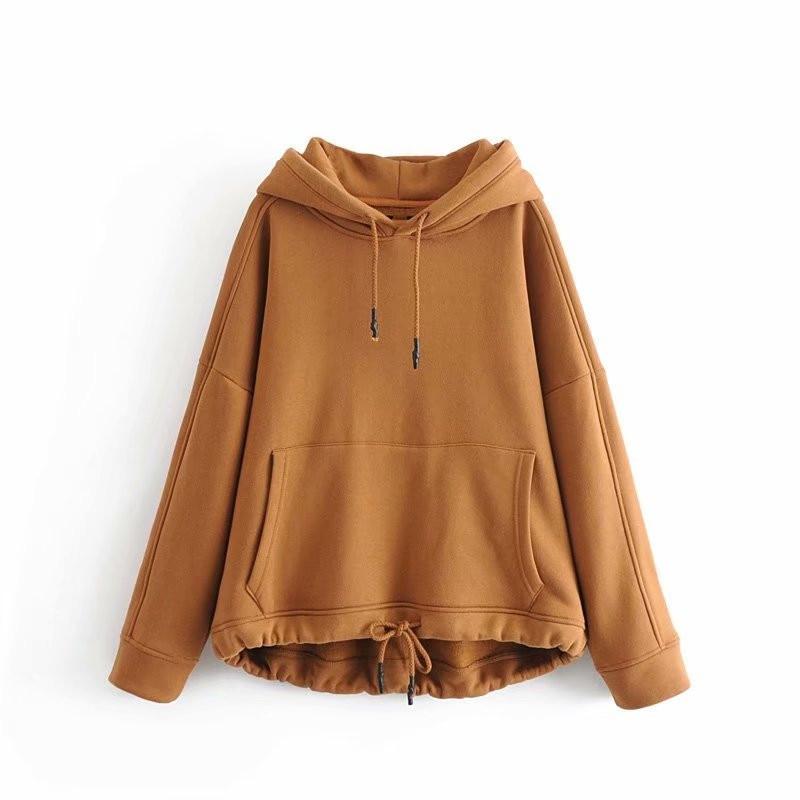 DOUJILI Весна Осень Новые пуловеры высокое качество свитшоты куртка Серый Черный Белый Свободные повседневные свитшоты для женщин