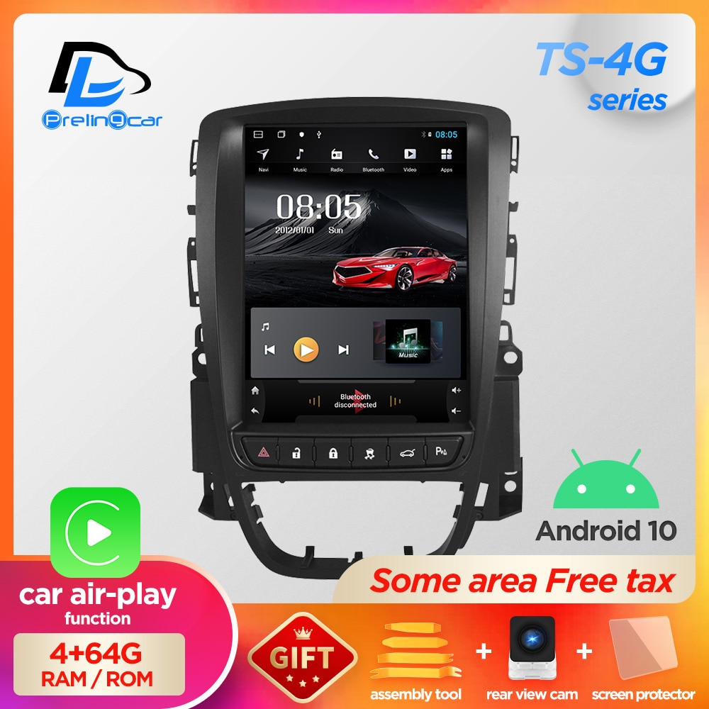 4G RAM Vertical screen car gps multimedia video radio player for opel ASTRA J verano 14years android