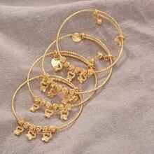 4PCS 24K African Arab Gold Color My Boy Bangles Bracelet Children Jewelry Bangles Newborn Baby Cute/Romantic Bracelets  Gifts