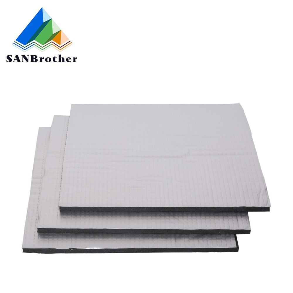 3d printer parts heat bed cotton 220 220 3mm hotbed thermal pad insulation cotton with cork glue reprap ultimaker makerbot 1PC Heating Bed Heat Insulation Cotton 220mm/235mm/310mm Foil Self-adhesive Insulation Cotton Sticker 10mm Thickness 3D Printer