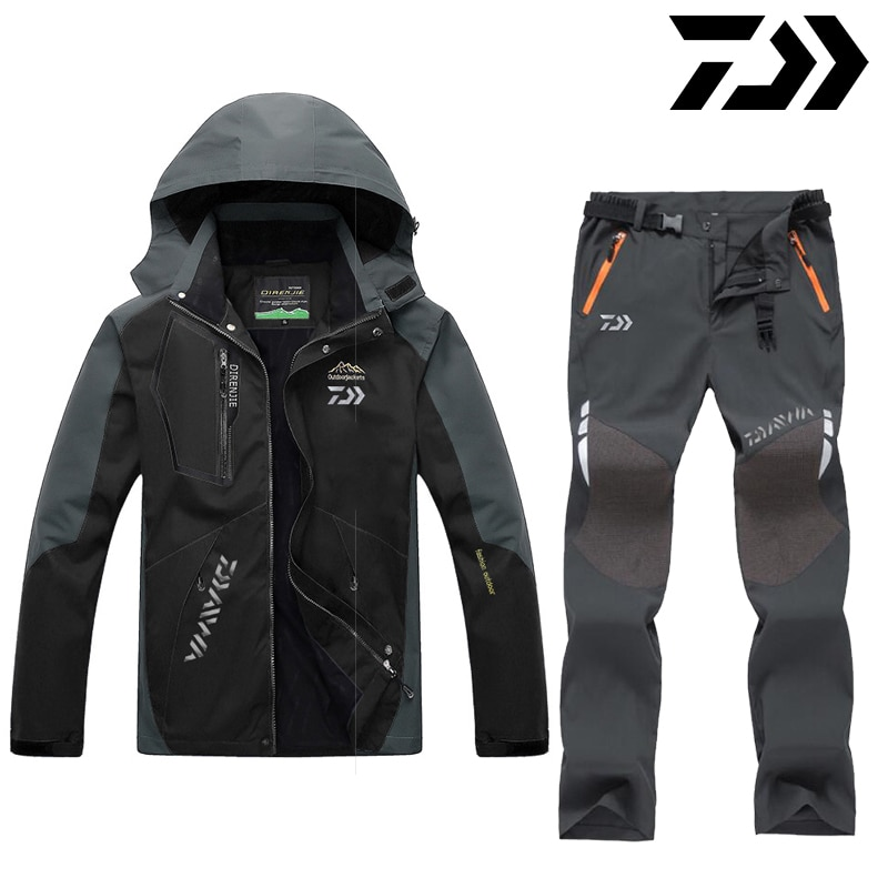 DAIWA Daiwa Fishing Clothes Outdoor Fishing Clothing Quick-drying Pants Mens Fishing Suit Breathable Sunscreen Fishing Jacket