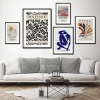 abstract henri matisse cutouts print gallery exhibition poster canvas painting wall art picture modern living room home decor