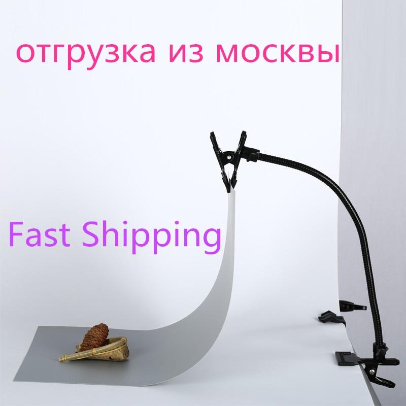 New Background Holder C Clamp Clip Camera Photo Studio Accessories Light Stand Flex Arm Reflector Photo Camara Fotografica