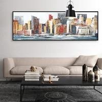 Toile de paysage de ville abstraite moderne  1 piece  affiche et imprimes nordiques  Art mural pour salon  decoration de maison  cadeau a la mode